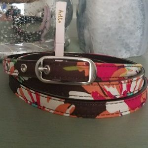 Vera Bradley English Rose Leather Belt